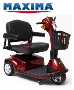 3 Wheel Pride Maxima Electric Scooter In Better Life Mobility Online Store.