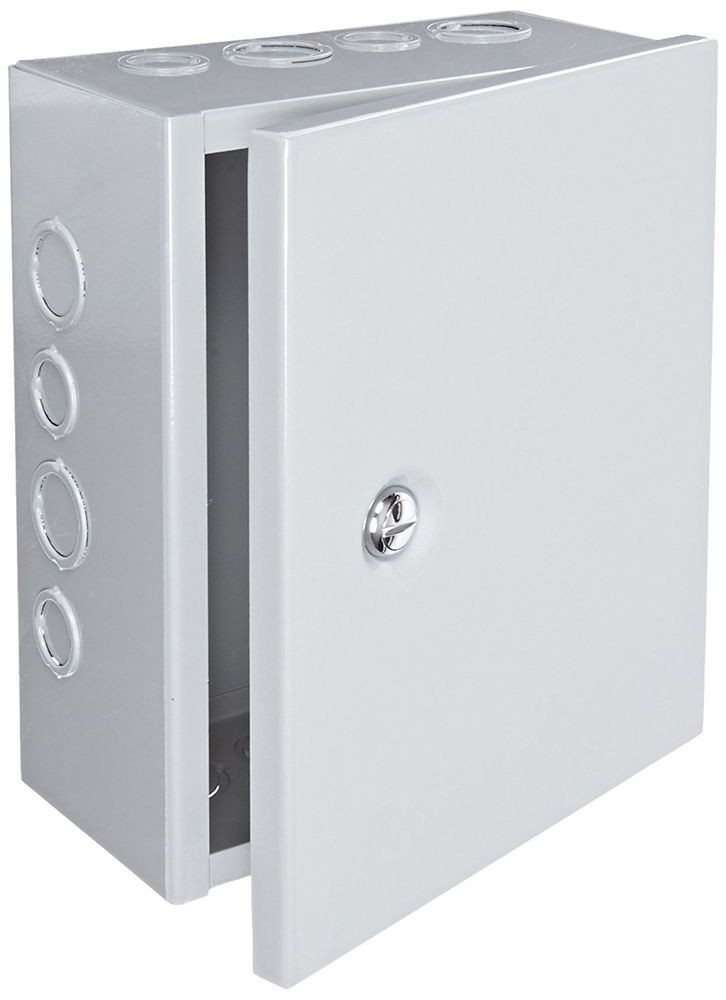 Metal Enclosure Junction Box Electrical Equipment Hinged Cover Wall Cabinet #BUD