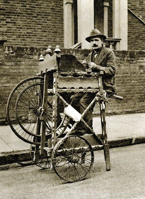 London in the 1920's-street knife grinder