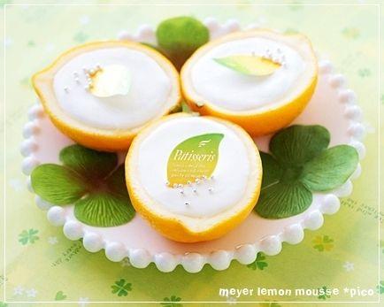 レモンとオレンジの香り♪「メイヤーレモンのムース」