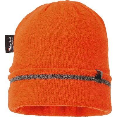 Gorro de punto con Thinsulate y adorno reflectante Naranja A.V.