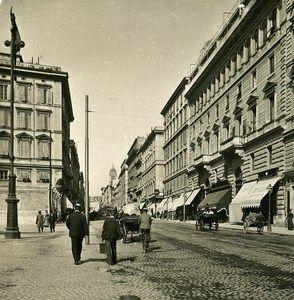 Italy Roma Via Nazionale old NPG Stereo Photo 1900 | Foto ...