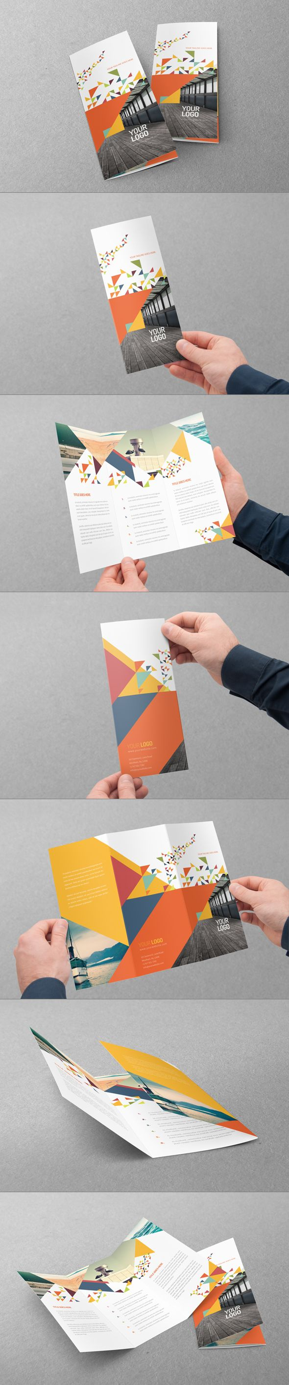 Colorful Modern Trifold. Download here: http://graphicriver.net/item/colorful-modern-trifold/7596238?ref=abradesign #design #brochure #trifold
