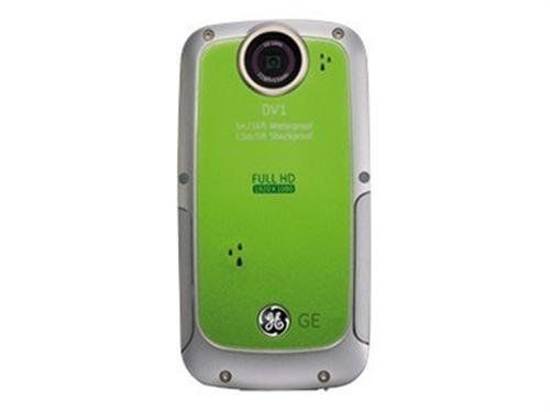 GE DV1-LG Waterproof/Shockproof 1080P Pocket Video Camera (Lime Green)