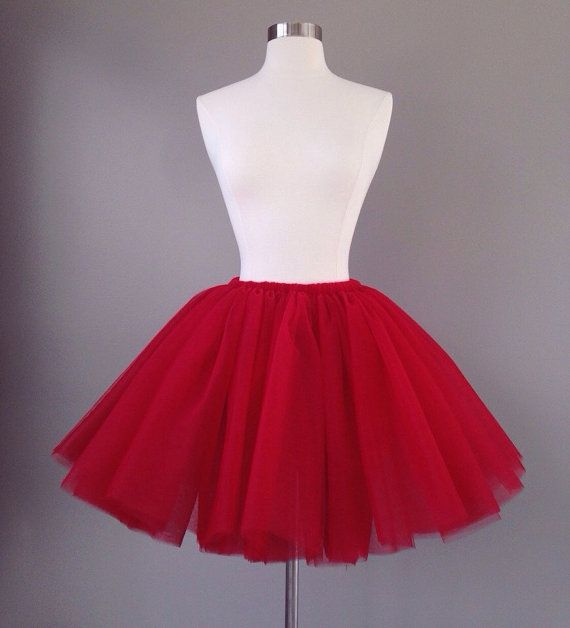 Valentines Day Red Adult Tulle Skirt Gorgeous Tutu This Is SEWN It NOT Tied Or Knotted Made Of Nylon