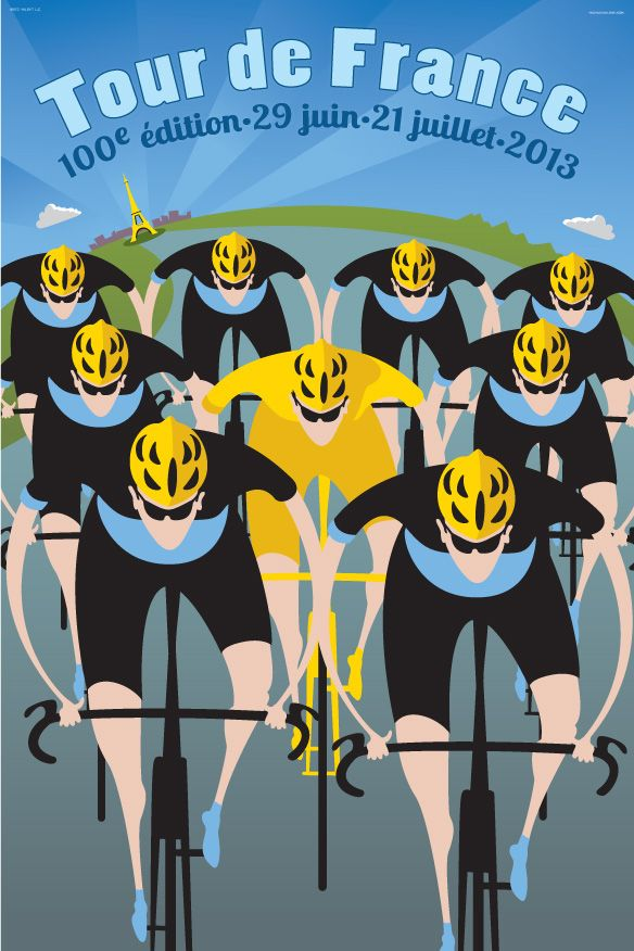 Tour De France Poster.