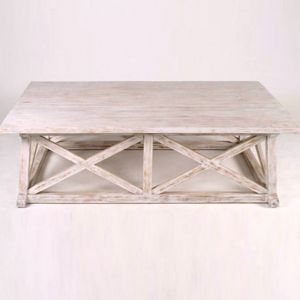 Coffee Table White Washed Mahogany Wood Dimensions 60 Long X 34 Wide X