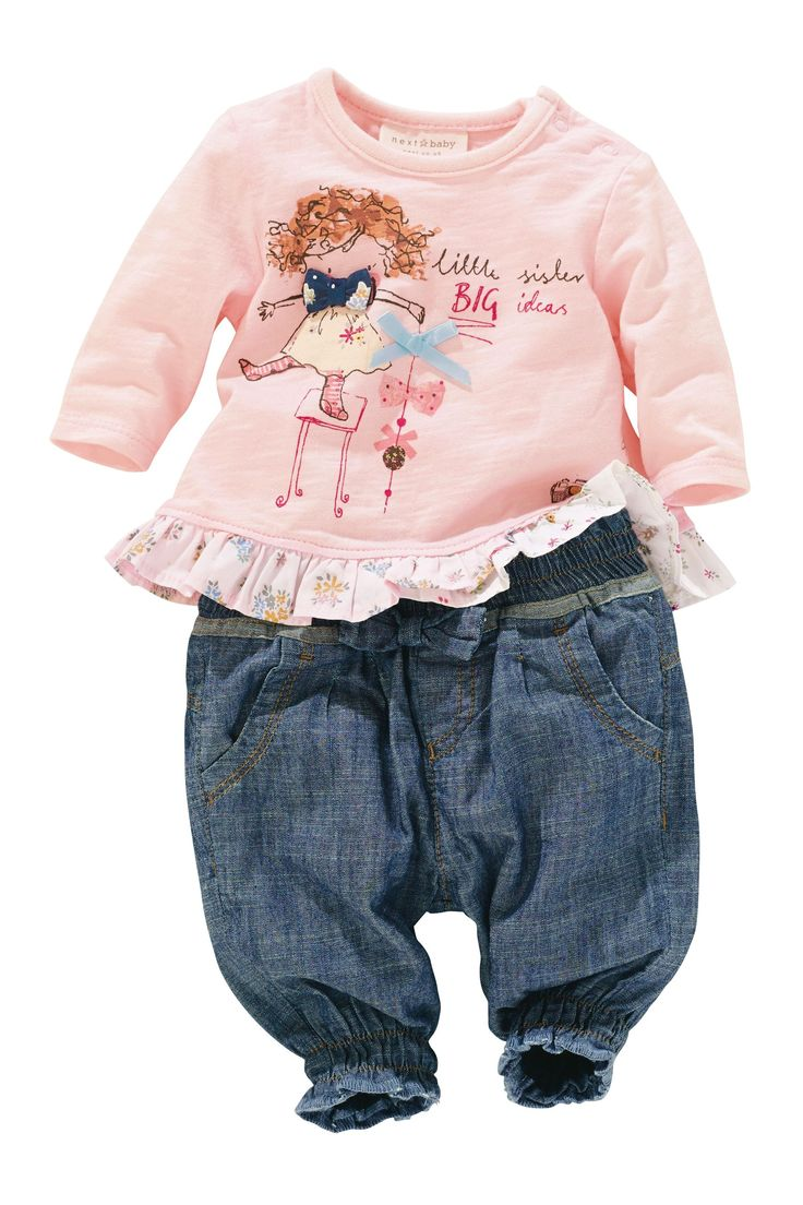 Buy Pink Little Sister T-Shirt (0-18mths) from the Next UK online shop