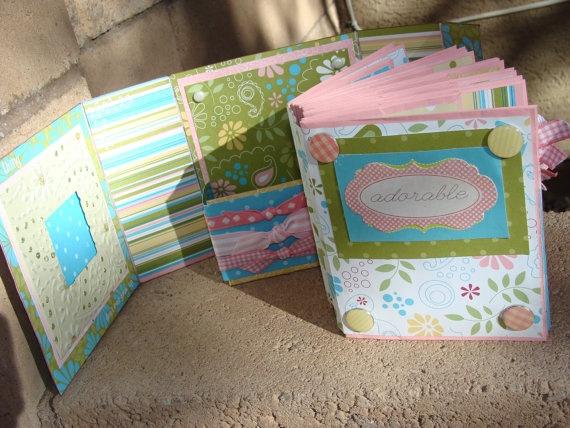 Premade Handmade Scrapbook Mini Paper Bag Photo by alishastratton, $45.00