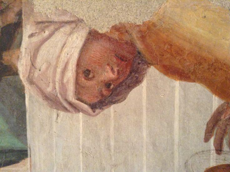 Gaudenzio Ferrari, da Milano, chiesa di Santa Maria della Pace affresco strappato Presentazione della Vergine al Tempio (dettaglio)