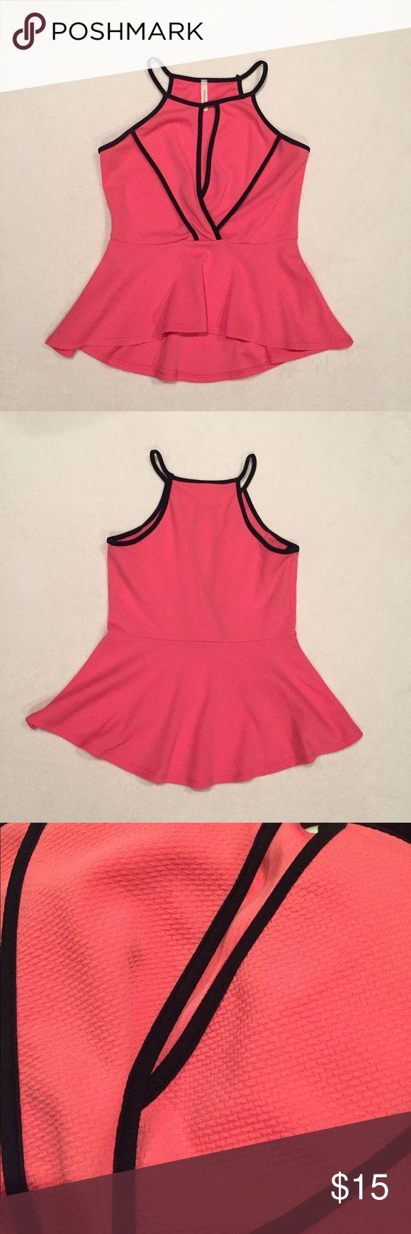 Pink Peplum Top Pink Peplum Top. Unlined, in great condition. Tops