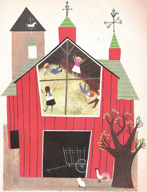 Alice and Martin Provensen's World--Barn by ZenCrafter, via Flickr