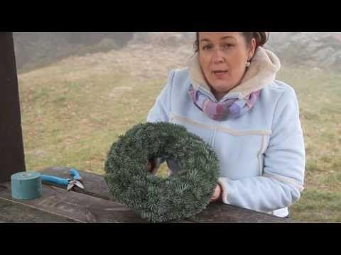 Vánoční věnec - www.floristicacademy.cz - YouTube