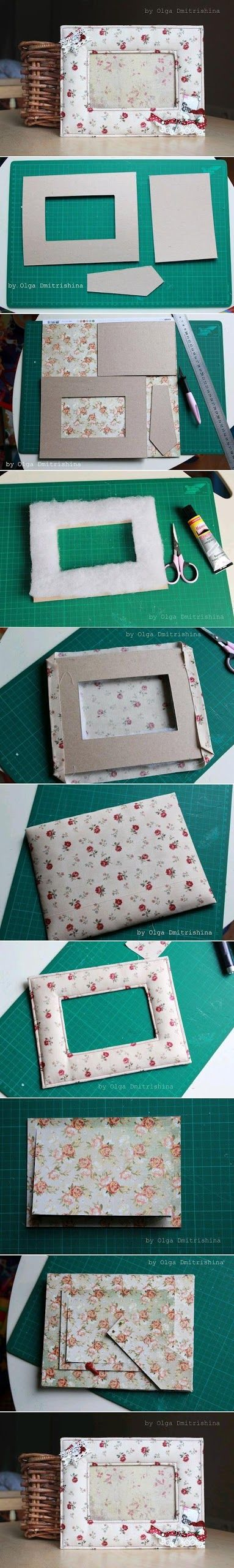 Easy Way To Make a Picture Frame / I have been looking for this for a very long time
