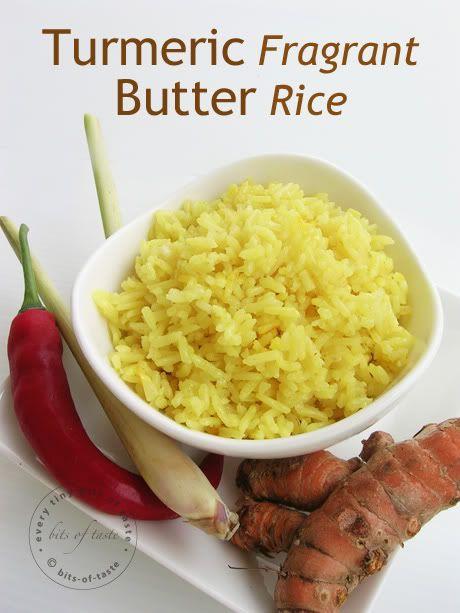 Recipe: Turmeric Fragrant Butter Rice ~ by Bits-Of-Taste.blogspot.com