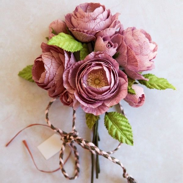 Queen Rose Gift Bouquet- Small- Purple- * IMPORTANT: Please note these – Paper Flowers Australia