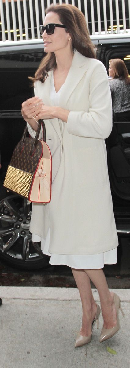 Angelina Jolie's updated Louis Vuitton bag stole the show in this ensemble.