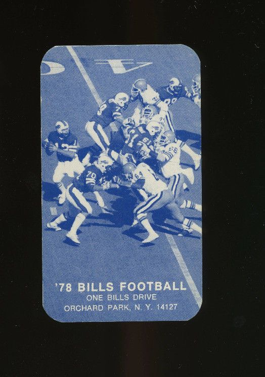 1978 Buffalo Bills NFL Football Schedule