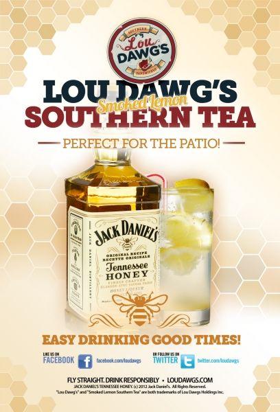 Smoked Lemon Southern Tea at Lou Dawg's