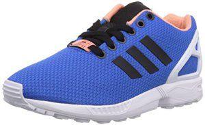 adidas , ZX Flux homme – Bleu – Blu (Blau / Weiß), 43 1/3 EU