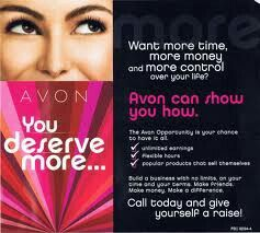 """TAKE THE CHALLENGE  Wondering whether you can boost your income with AVON, then why not """"Take the Challenge""""...  It's simple, i'll give you 5 books show them to your family, friends, neighbours, collaegues, customers etc if you have enough orders to earn commission (min of £85) I will sign you up as an Avon rep, if you don't I will process your orders and give you a FREE gift plus 10% of your sales total to spend in the next brochure.  Interested? Inbox me for details"""