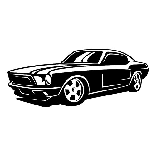 Mustang Die Cut Vinyl Decal PV1349