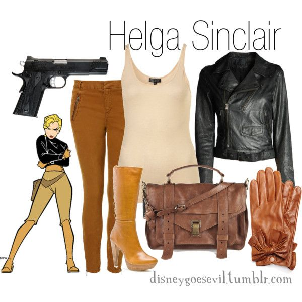 Helga Sinclair, created by disney-villains on Polyvore