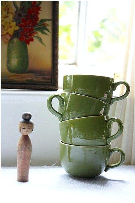 $25.00 # http://www.etsy.com/listing/46690834/green-grass-coffee-mugs Love these coffee mugs.