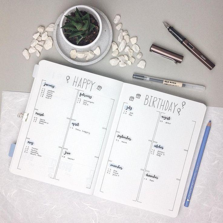 birthday list trcker - #liststocreate Instagram photo by @pureplanning_bymj • 2,357 likes