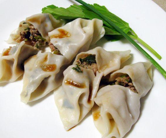 Garlic Chive  Ginger Pork Dumplings #chinese #food