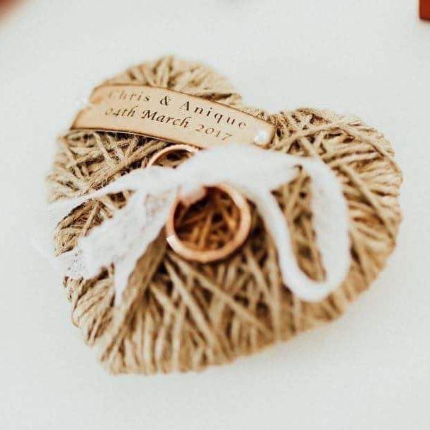 How Cute! Ring pillow idea #weddingideas #chrisandanique40317 📸by @laurenannephotography