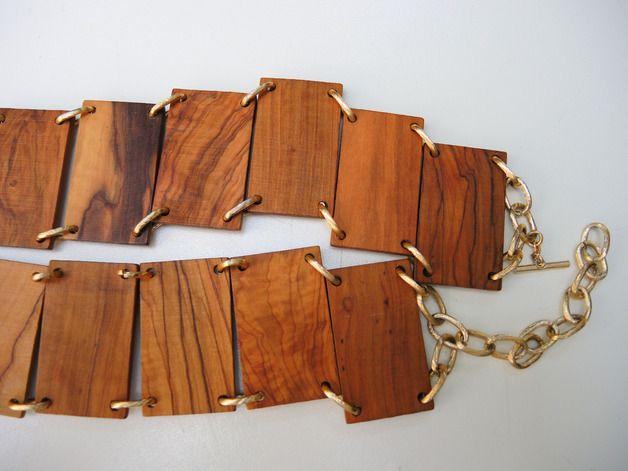 Gürtel & Schnallen - Teakholzgürtel mit Knebelverschluss - ein Designerstück von tempi-passati bei DaWanda