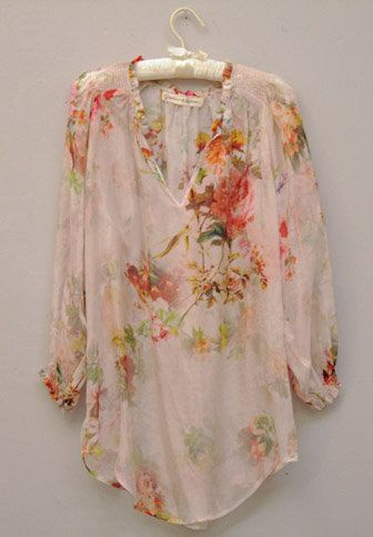 Vintage Floral Blouse by Graham & Spencer.  So pretty