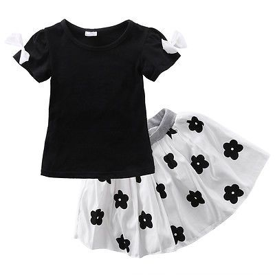 >> Click to Buy << 2016 New Baby Girls Princess Outfits Dress T-shirt Blouse+Skirts Tutu 2pcs Outfits Free Shipping  #Affiliate