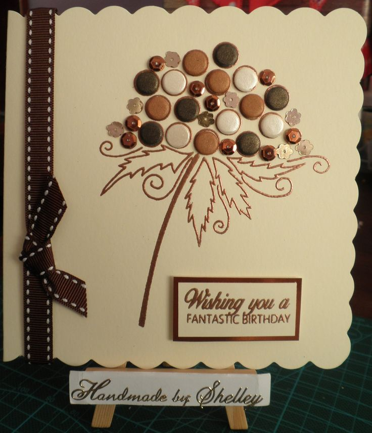 Bubble Bloom - Clarissa. Card Candi by Craftwork Cards. Gems and ribbon by Meiflower. Liquid Pearls by Ranger.