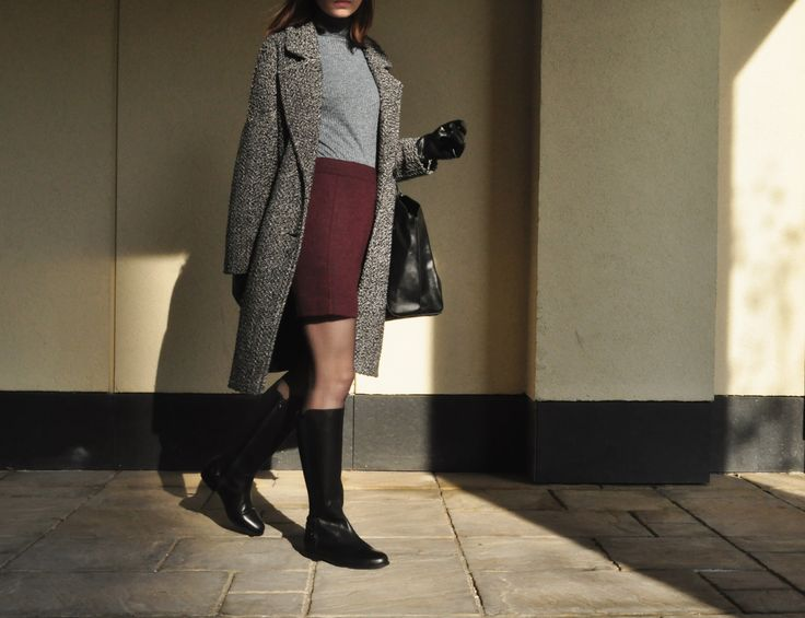 office woman #Reserved #RE #Woman #shoes #leather #office #leather #black #autumn #winter