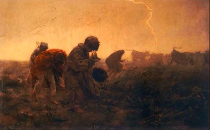 Józef Chełmoński (1849-1914)   Burza 1896