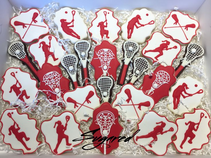 Girls Lacrosse Cookies Sugared Cookies and Sweets Inc