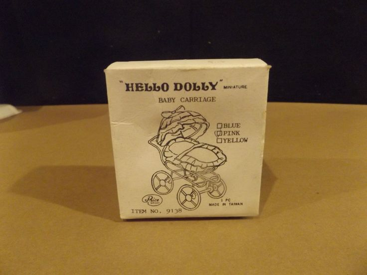 """""""HELLO DOLLY"""" MINIATURE BABY CARRIAGE - PINK - WITH BOX   eBay"""