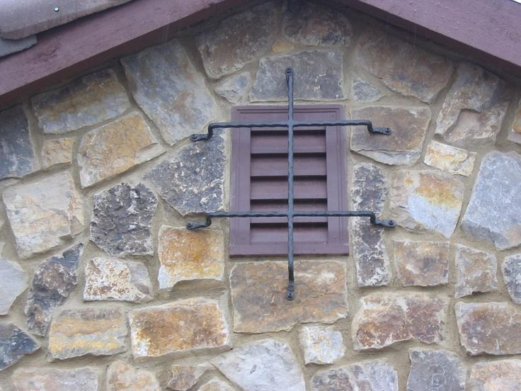 Nice wrought iron touch here... Grates and Grills