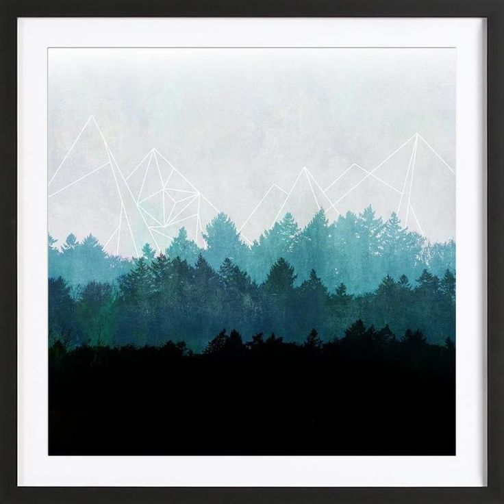 Woods Abstract as Framed Poster by Mareike Böhmer | JUNIQE