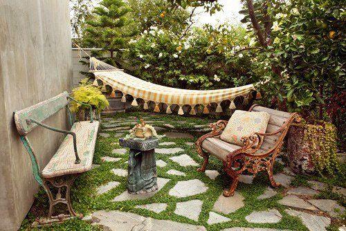 Small Backyard Garden: Backyard Ideas, Backyard Design, Small Backyard, Backyard Retreat, Small Spaces, Small Gardens, Outdoor Spaces, Stones Patio, Back Yard