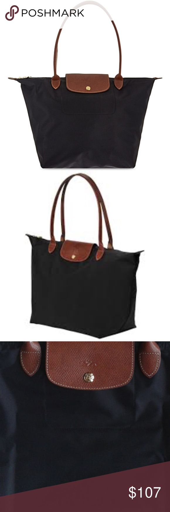 Black 'Small Le Pliage' Shoulder Longchamp Bag In very good condition.. NWOT.. Firm price as the bag is in good condition! FINAL MARDOWN! Longchamp Bags
