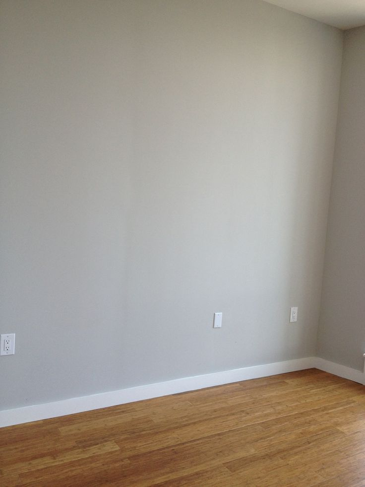 Grey walls and oak floors