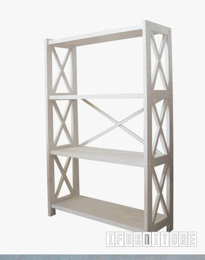 JENNEY Shelf 4 Tier White Wash , Shelf & Cabinet, NZ's Largest Furniture Range with Guaranteed Lowest Prices: Bedroom Furniture, Sofa, Couch, Lounge suite, Dining Table and Chairs, Office, Commercial & Hospitality Furniturte