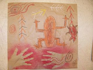 Mrs. Weber's Art Class: Pre-historic Art! 2nd Grade