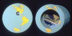 "Carol Barton  Tunnel Map, 1988  7 1/2"" diameter x 10"" (extended), Silkscreen edition of 150."