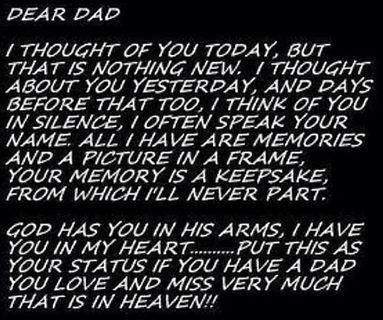 How should I write a very personal letter to my dad?