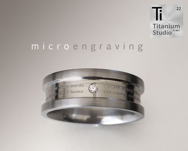 Micro Engraved Vows We Can Engrave Up To 150 Words Onto A Single