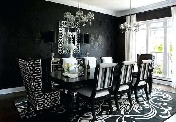 Black Dining Room Walls Droneology Co Black And Silver Dining Room Set Dining Room All Modern Black Dining Room Victorian Dining Room Decor Luxury Dining Room